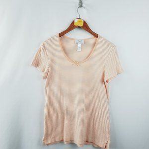 Oscar De La Renta Scoop Neck T Shirt Womens Sz Med